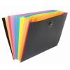 VIQUEL Harmonikamappa, PP, 8 rekeszes, VIQUEL  Rainbow Class , fekete