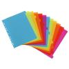"VIQUEL Regiszter, mûanyag, A4 maxi, 12 részes, VIQUEL, ""Happy Fluo"", színes"