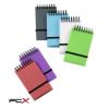 """VIQUEL Spirálnotesz, 75x125 mm, vonalas, VIQUEL """"Propyglass Mini"""", vegyes színek"""