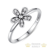 Virág mintás köves gyűrű, 7