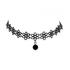Virágos choker nyaklánc nyaklánc