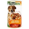 VitalBite teljes értékű állateledel felnőtt kutyák számára csirkével, tésztával és répával 1240 g