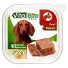 VitalBite teljes értékű állateledel felnőtt kutyák számára nyúllal és borjúval 150 g