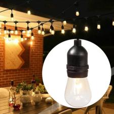 Vízálló dekor égősor, 15 db E27 LED lámpával, 14,6 m, melegfehér kültéri világítás
