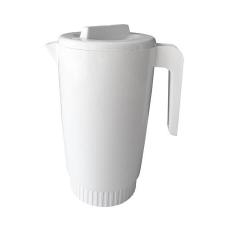 Vizeskancsó, műanyag, fedéllel, fehér, 2,15 l konyhai eszköz
