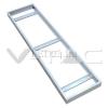 Vled Led panel beépítőkeret (falon kívüli, 120×30, fehér)