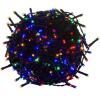 VOLTRONIC® Karácsonyi LED világítás 10 m - színes 100 LED - zöld kábel