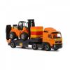 Volvo kamion targoncával és építőkockákkal