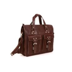 VOOC üzleti táska bőrből TC9 sötétbarna
