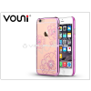 Vouni Apple iPhone 6/6S hátlap kristály díszitéssel - Vouni Crystal Bloom - rose pink