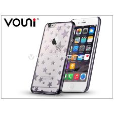 Vouni Apple iPhone 6/6S hátlap kristály díszitéssel - Vouni Crystal Star - gun black tok és táska
