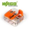 WAGO új karos (csatos) vezeték összekötő, 3 vezeték nyílásos