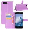 WALLET notesz tok / flip tok - LILA - asztali tartó funkciós, oldalra nyíló, rejtett mágneses záródás, bankkártyatartó zseb, szilikon belsõ - ASUS Zenfone 4 (ZE554KL)