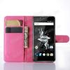 WALLET notesz tok / flip tok - MAGENTA - asztali tartó funkciós, oldalra nyíló, rejtett mágneses záródás, bankkártyatartó zseb - OnePlus X