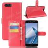 WALLET notesz tok / flip tok - PIROS - asztali tartó funkciós, oldalra nyíló, rejtett mágneses záródás, bankkártyatartó zseb, szilikon belsõ - ASUS Zenfone 4 (ZE554KL)