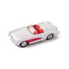 Welly Chevrolet Corvette 1957 fehér kisautó, 1:60-64