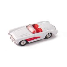Welly Chevrolet Corvette 1957 fehér kisautó, 1:60-64 autópálya és játékautó