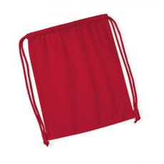 Westford Mill Uniszex organikus speciális táska Westford Mill Organic Premium Cotton Gymsac Egy méret, Piros