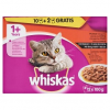Whiskas Húsos Válogatás teljes értékű állateledel felnőtt macskák számára mártásban 12 x 100 g