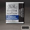 Winsor&Newton Cotman 1/2 szilkés akvarellfesték - 337, lamp black