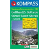 WK 108 - Gotthard - Grimsel turistatérkép - KOMPASS