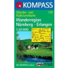 WK 170 - Nürnberg - Erlangen Wanderregion turistatérkép - KOMPASS