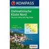 WK 2901 - Dalmatinische Küste Nord turistatérkép - KOMPASS