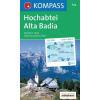 WK 624 - Hochabtei / Alta Badia turistatérkép - KOMPASS