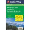 WK 649 - Altopiano della Paganell turistatérkép - KOMPASS