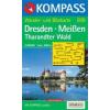 WK 809 - Dresden - Meissen - Tharandter Wald turistatérkép - KOMPASS