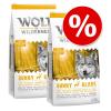 Wolf of Wilderness gazdaságos csomag 2 x 12 kg - Senior Green Fields - bárány