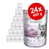 Wolf of Wilderness Little Wolf of Wilderness 24 x 400 g - Wild Hills Junior - kacsa & borjú