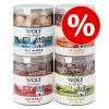 Wolf of Wilderness Sparpaket Wolf of Wilderness - Gefriergetrocknete Premium-Snacks - Wide Acres - csirkeszív (280 g)