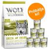 Wolf of Wilderness száraz & nedves kutyaeledel próbacsomag: Junior Wild Hills - kacsa