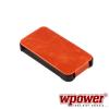 WPOWER Apple iPhone 4/4S valódi bőr telefontok, narancs