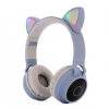 WPOWER Macskafüles, LED-es Bluetooth 5.0 fejhallgató, világoskék