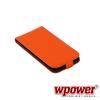 WPOWER Samsung Galaxy S5 valódi bőr telefontok, narancs (3468)