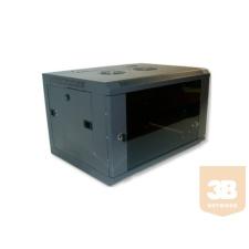 X-Tech - 18U fali rackszekrény 600X450 hegesztett kivitel szerver