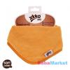 Xkko bambusz nyálkendő patentos - narancssárga BMBBND003