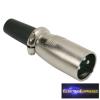 XLR dugó • 3 pólusú Csavaros, fém kivitel Gumírozott törésgátló