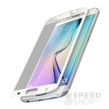 Xprotector Samsung G928 Galaxy S6 Edge+  Tempered Glass Full Size 3D kijelzővédő üvegfólia, fehér mobiltelefon kellék