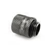 XSPC Adapter 2xG1/4, forgatható - króm fekete