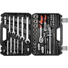Yato Dugókulcs készlet 82 részes 1/2 col: 14-24 mm, 1/4 col: 4-14 mm CrV dugókulcs