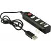 YENKEE 4 x USB 2 HUB (YHB 4002BK) fekete