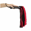 Zado ZADO - prémes valódi bőr korbács (piros-fekete)