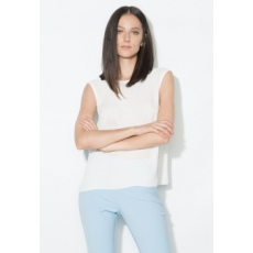 Zee Lane Collection Fehér Áttetsző V-nyakú Top 38 (ZL0026-WHITE-38)
