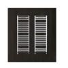 Zehnder Aura 1800x500 íves, króm törölközőszárító radiátor