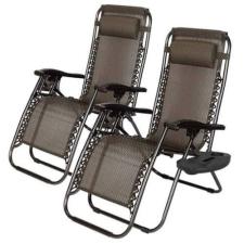 Zéró gravitáció kerti szék ajándék pohártartóval, 2 db kerti bútor