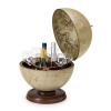 Zoffoli Bárföldgömb asztali Urano (a gömb teteje oldalra nyitható) antik világosbarna