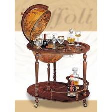 Zoffoli Bárföldgömb zsúrkocsi Giasone (a gömb teteje oldalra nyitható) barna Ø 40 cm bútor